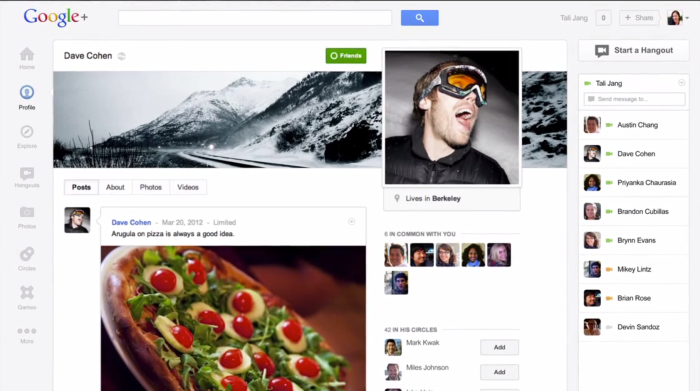 Google+ adds Cover Photo with its Redesign