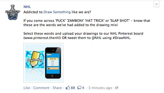 NHL and Draw Something Partner Up