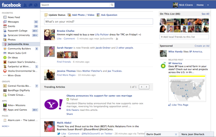 Promoted Yahoo Stories in Facebook Lists?