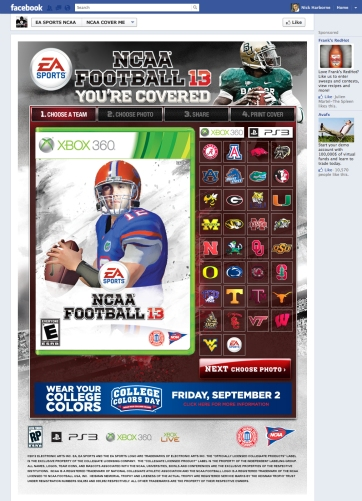 ncaa football 13 from walmart