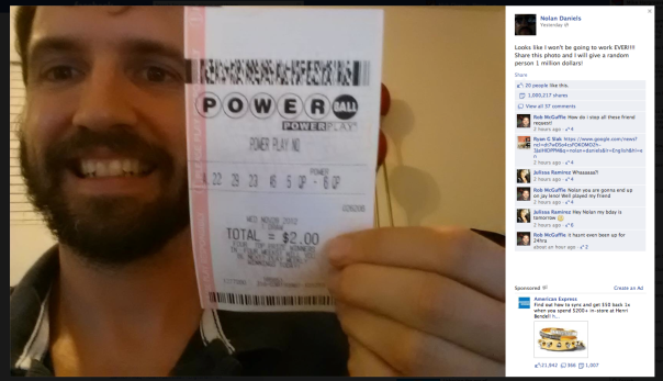 Nolan Daniels powerball ticket