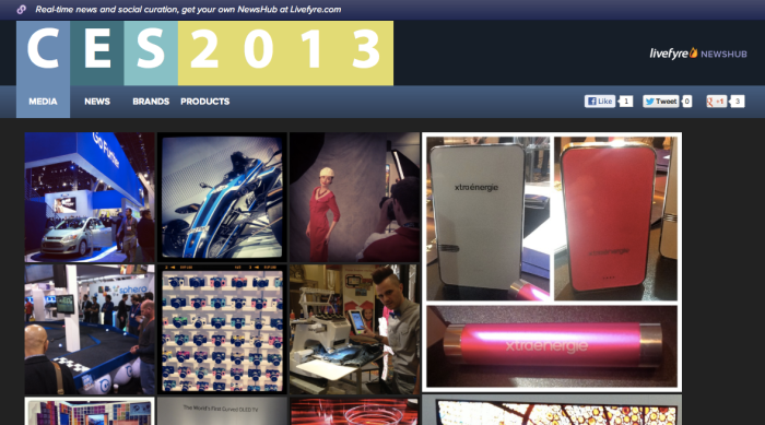 livefyre newshub CES #2013ces