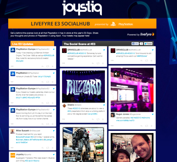 joystiq e3 playstation social media