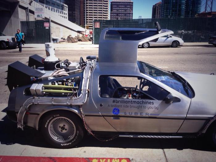 uber ge delorean