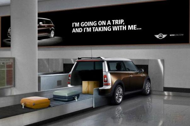 mini airport ad baggage claim