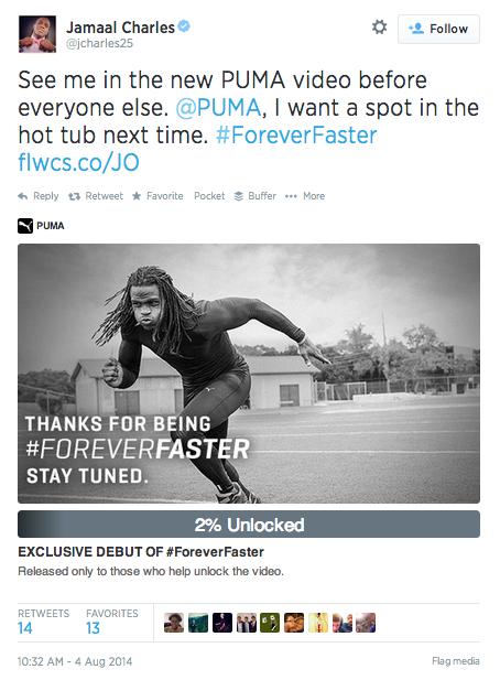 puma tweet to unlock