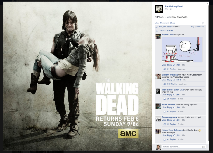 the walking dead spoiler facebook